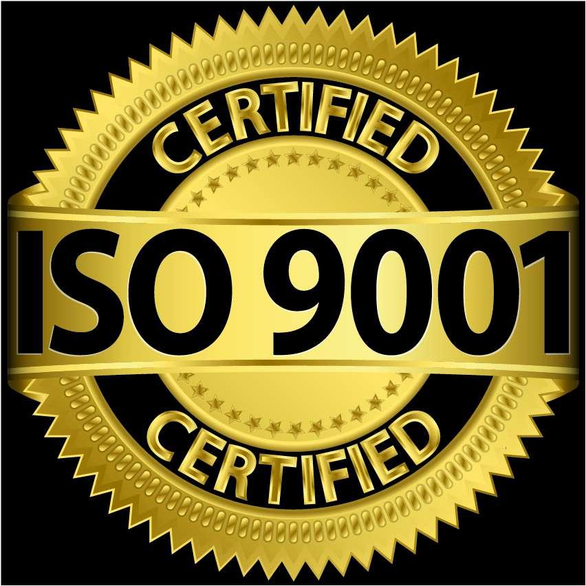 ISO 9001 黑底